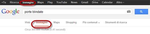 Doppio menu di Google con voci ripetute